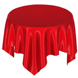 Red cloth on the table Royalty Free Stock Images