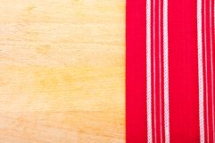 Red cloth with white lines Royalty Free Stock Photography
