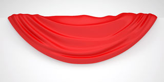 Red cloth on a white wall Stock Photos