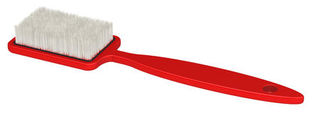 Red clothes brush Stock Photo