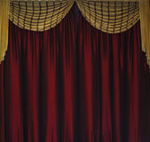 Red clothes curtain decorated as background Royalty Free Stock Images