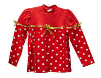 Red clothes for girl isolated on white background Royalty Free Stock Images