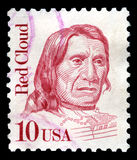 Red Cloud US Postage Stamp Royalty Free Stock Photography