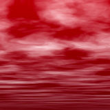 Red Clouds. Digital Background Image with red clouds texture Vector Illustration