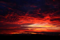 The red clouds Royalty Free Stock Photo