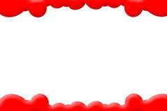 Red Clouds PhotoFrame Royalty Free Stock Photography