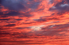 Red clouds Royalty Free Stock Photos