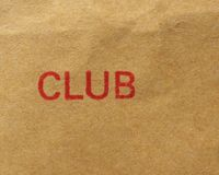 Club stamp over paper Royalty Free Stock Photography