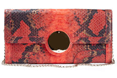 Red clutch bag Stock Images