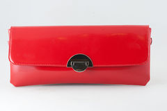 Red clutch bag Royalty Free Stock Images