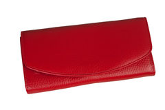 Red clutch bag Royalty Free Stock Photo