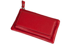 Red clutch bag Stock Photo