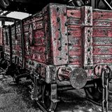 Red Coal Trucks Royalty Free Stock Photo