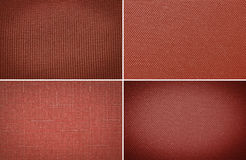 Red coarse canvas background. Red fabric texture. coarse canvas background - closeup pattern stock image