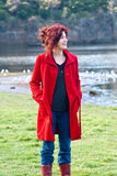 The red coat Royalty Free Stock Photography