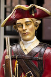 Red Coat Soldier. Statue of a red coat soldier from the time of the American Revolution which is in exhibition at the Freedom Trail in Boston, Massachusetts Stock Photos