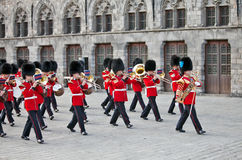 Red Coats and Guards Stock Photo