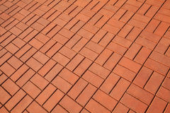 Red cobblestone pavement Royalty Free Stock Images