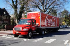 A red Coca Cola delivery truck Stock Photography