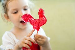 Red cock Stock Photography
