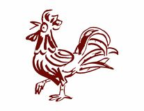 Red cock, rooster Stock Photos