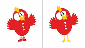 Red Cock Symbol 2017. Red Cock  image Symbol 2017 Royalty Free Stock Image
