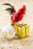 Red cock year symbol Royalty Free Stock Image
