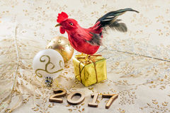 Red cock year symbol Stock Image