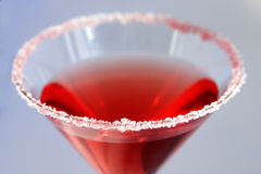 Red cocktail. A red cocktail with a sugar coated rim Royalty Free Stock Photography