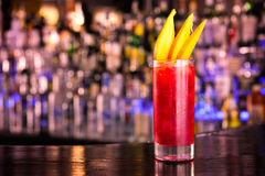 Red cocktail. On the bar Stock Photography