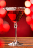Red cocktail in bar Royalty Free Stock Photography