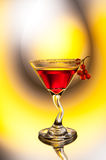 Red cocktail with berries Stock Images