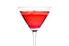 Red cocktail with bubbles Royalty Free Stock Photography