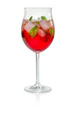 Red cocktail with campari Royalty Free Stock Photography