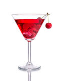 Red Cocktail with Cherry Stock Images
