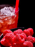 Red cocktail  on dark background Stock Photo