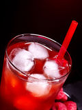 Red cocktail  on dark background Royalty Free Stock Photo