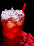Red cocktail  on dark background Stock Photos