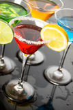 Red cocktail drink Stock Images