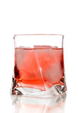 Red cocktail on a glass Stock Photos