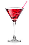 Red cocktail in a high glass Royalty Free Stock Images