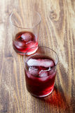 Red cocktail in a glass Royalty Free Stock Images