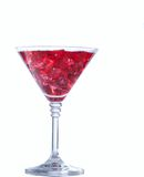 Red cocktail with ice isolated on white Stock Images