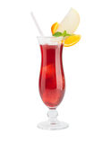 Red cocktail isolated Stock Photo