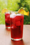 Red cocktail juice Stock Images
