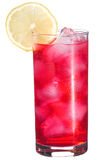Red cocktail with lemon royalty free stock photo