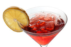Red cocktail and lemon Stock Photography
