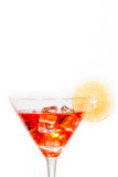 Red cocktail with lemon Royalty Free Stock Photography