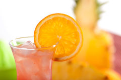 Red cocktail with orange Royalty Free Stock Photos