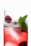 Red cocktail with raspberry Stock Images
